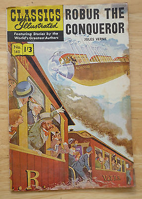 Classics Illustrated No 140 Robur The Conqueror by Jules Verne (HRN 140) UK '61