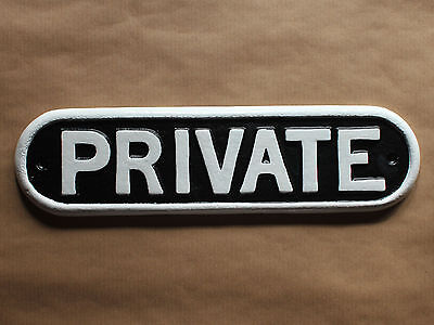 "Vintage Railway ""private"" Solid Cast Sign Plaque Train Antique Gwr 13"" Infr-06Bl"