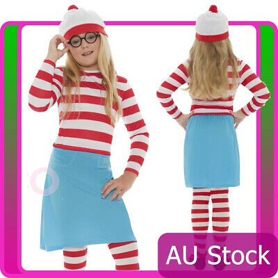 Wheres Wally Girls Wenda Costume Kids Cartoon Waldo Where's Wally Book week