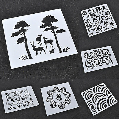 Template Spray Painted Masking Decoration Designs Drawing Stencils Airbrush
