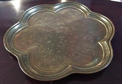 Fabulous Vintage Large Brass Tray/ Wall Plaque