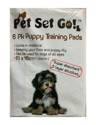 Super Absorbent Puppy Training Pads 60 X 45 Cms Trainer Toilet Wee Cat Dog