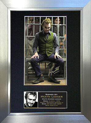 HEATH LEDGER Joker Signed Autograph Mounted Reproduction Photo A4 Print no18