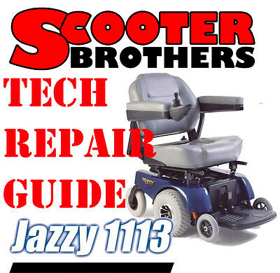 PRIDE JAZZY 1113 Technical Service Guide And Parts Diagrams Diagnostic on