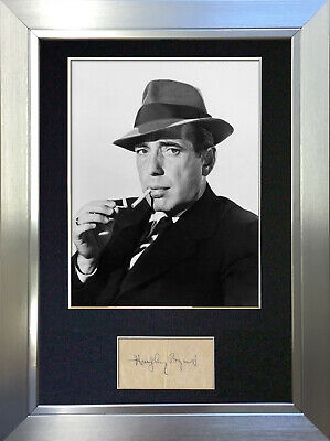 HUMPHREY BOGART Signed Autograph Mounted Reproduction Photo A4 Print no23