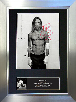 IGGY POP Signed Autograph Mounted Photo Repro A4 Print 439
