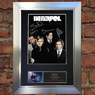 INTERPOL Signed Autograph Mounted Photo Reproduction A4 Print 533