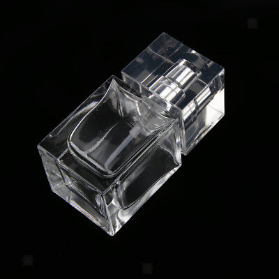 30ml Empty Glass Perfume Bottle Clear Rectangle Pump Spray Bottles for Woman