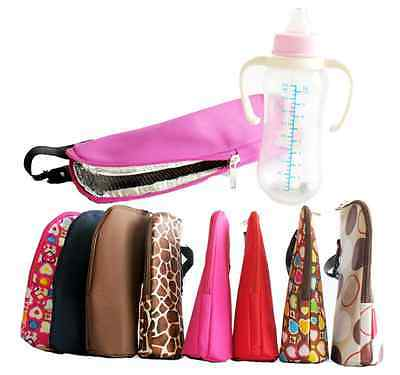 Portable Thermal Baby Feeding Bottle Warmers Insulation Tote Stroller Hang Bag