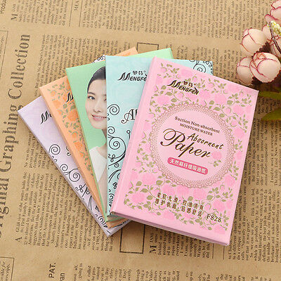 140 Pcs Oil Absorbing Make Up Tissue Papers Blotting Color Random Facial Cleaner