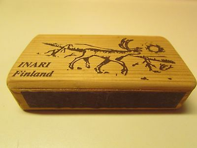 Vintage Wooden Match Box Cover - INARI Findland