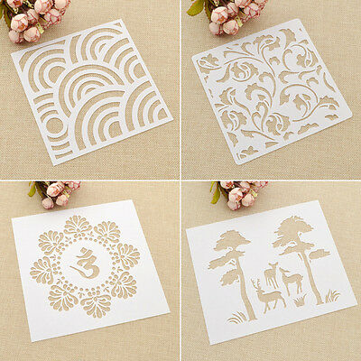 Decor DIY Designs Masking Spray Painted Drawing Template Stencils Airbrush