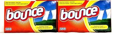 3 Bouce Fabric Softener Sheets Outdoor Fresh Scent 200 Per Box