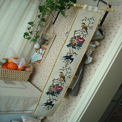 beautiful birds Wool Needlepoint Wall hanger item no 256