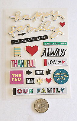 Scrapbooking No 191 - 15 Plus Chipboard Family Themed Stickers