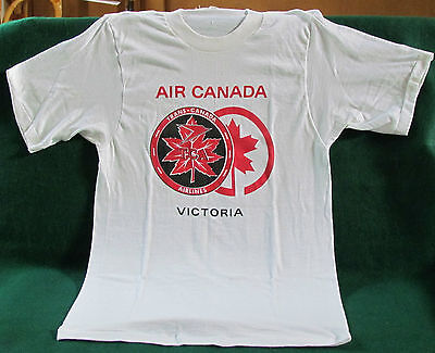 T-SHIRT COMMEMORATING TRANS CANADA AIRLINES BECOMMING AIR CANADA - Size Small