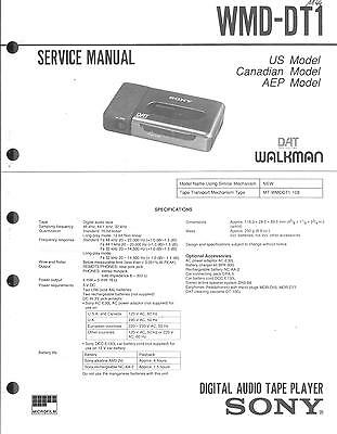 Sony Original Service Manual für WMD-DT 1