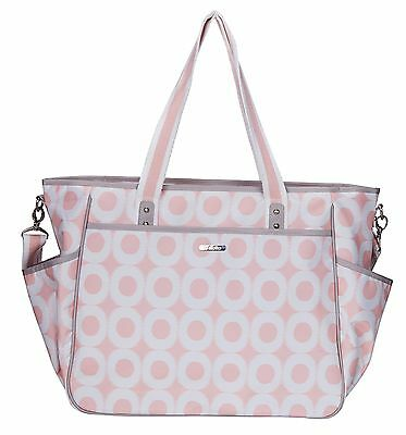 Bellotte Cute Pink Circle Mommy Tote Baby Diaper Bag
