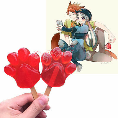 Cafiona Hot Zootopia Nick Wilde Cosplay Accessory Red Cute Paw Popsicle Hot  Prop