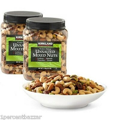 Kirkland Signature Extra Fancy Unsalted Mixed Nuts 2 x 1.13kg - MADE IN USA