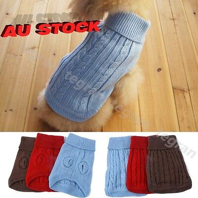 Cute Pet Dog Warm Clothes Jumper Sweater Puppy Cat Knitwear Costume Coat Winter