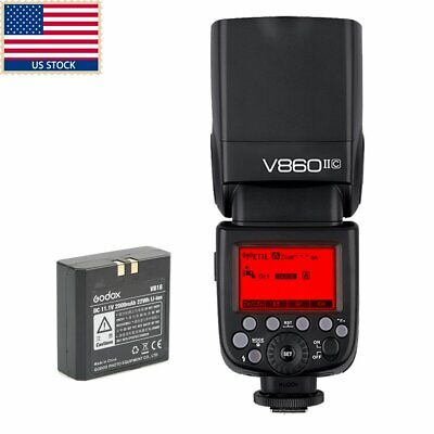 US Godox Ving V860II-C 2.4G E-TTL Li-on Battery Flash Speedlite for Canon Camera