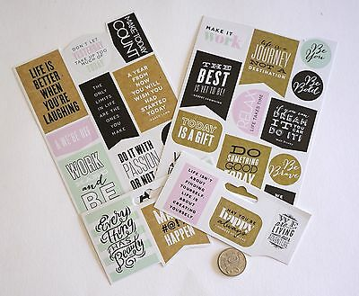 Scrapbooking No 315 - 25 Plus Medium Size Bright Saying Stickers Mixed Pack