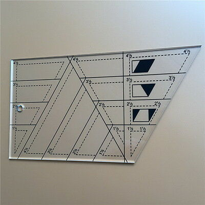 Quilting Sewing Patchwork Craft Scale Ruler Trapezoid Polygon Foot Ladder Tailor