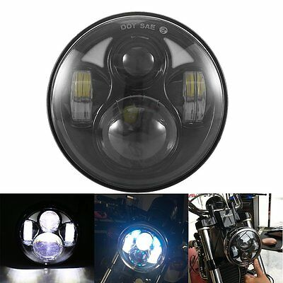 5-3/4 5.75 Inch Cree Daymaker Projector LED Headlight Hi/Lo Beam for Harley Moto