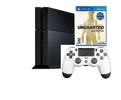 Sony PlayStation 4 UNCHARTED: The Nathan Drake Collection Bundle Jet Black PS4