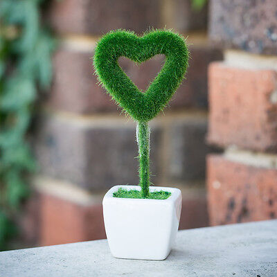 Artificial Potted Love Plant Bonzai Home Office Table Decor or Wedding Party