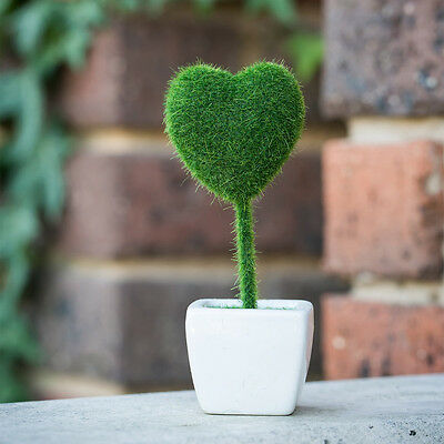 Artificial Potted Love Plant Bonzai Home Office Table Decor for Wedding Party