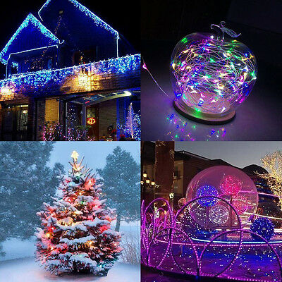 100 LED Solar Powered Fary Stars String Light Copper Wire Lights Party Ambiance