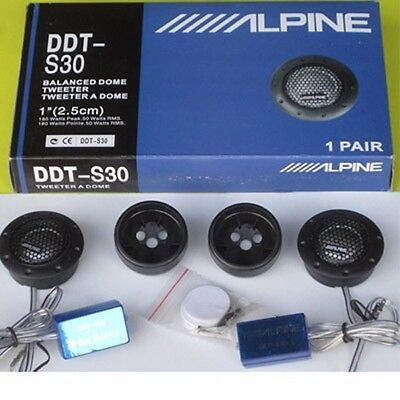 "Alpine 1"" DDT-S30 360W Soft Dome Balanced Car Tweeters"