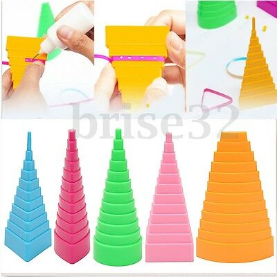 5Pcs Paper Quilling Border Buddy Bobbin Tower Quilled Creation Craft DIY Tools