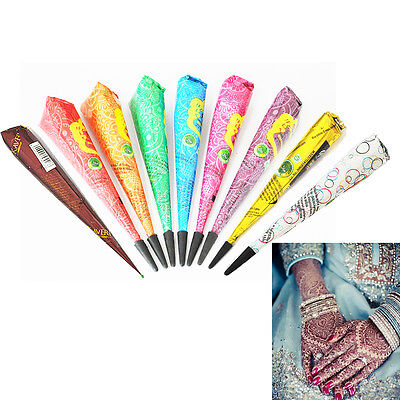 Wedding Henna Paste Cone Body Art Tattoo Stencils Drawing Temporary Makeup Paint