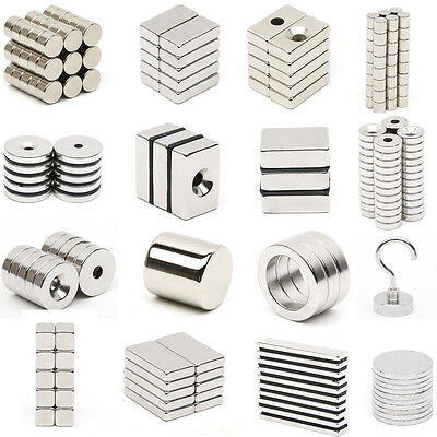 Very Strong Neodymium Magnets N52 Grade Small Craft Countersunk Rare Earth NdFeB