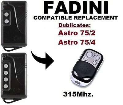 Fadini gate remote sites 2-2 Channels-with Battery Included