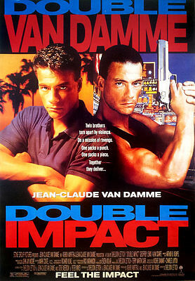 "Double Impact (1991) POSTER 20""x30"" American Action Movie Jean-Claude Van Damme"