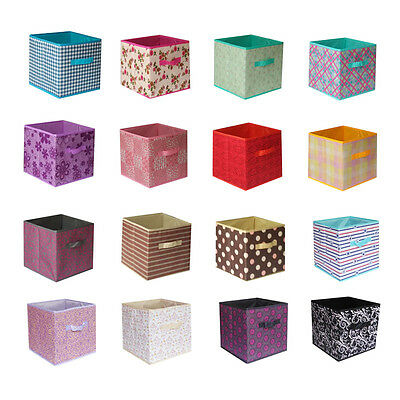 6pcs Home Storage Box Household Organizer Fabric Cube Bins Basket  Container