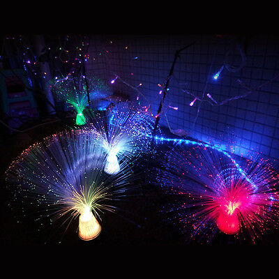 New Glow In Dark Mixed Color Changing Fiber Optic LED Light Toy Xmas Party Decro