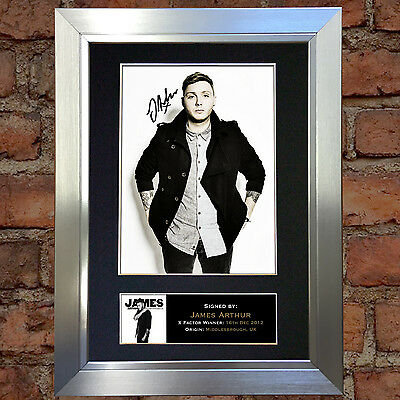 JAMES ARTHUR Signed Autograph Mounted Photo Repro A4 Print 302