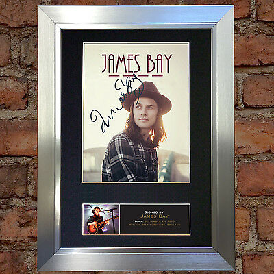JAMES BAY Signed Autograph Mounted Photo Repro A4 Print 568