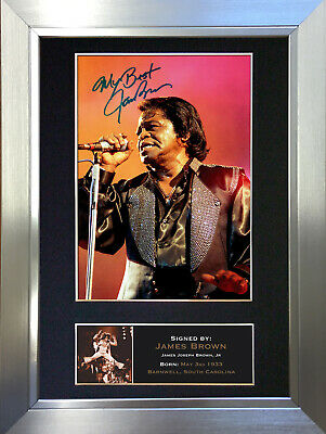 JAMES BROWN Signed Autograph Mounted Photo Repro A4 Print no157