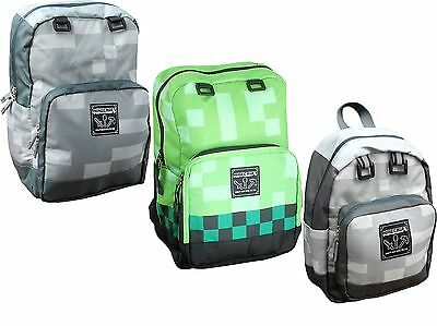 Official Mojang Jinx Minecraft Backpacks/rucksack Med Or Xl Various Colours