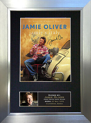 JAMIE OLIVER Signed Autograph Mounted Reproduction Photo A4 Print no15