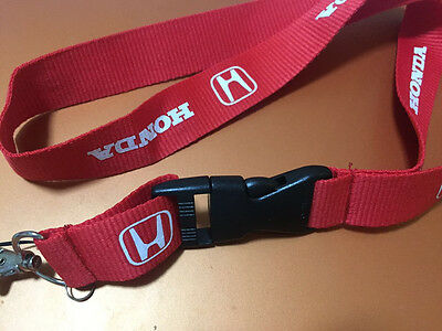 NEW-Honda Accord RED Lanyard Neck Cell Phone Key Chain Strap Quick Release
