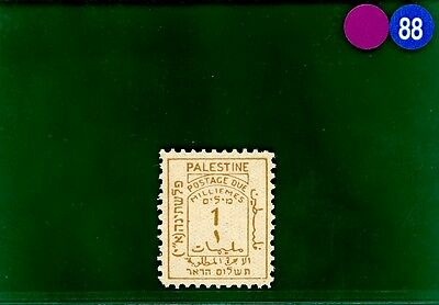 PBLUE88 PALESTINE Postage Due 1923 1m superb unmounted UMM MNH SG.D1 cat £26+