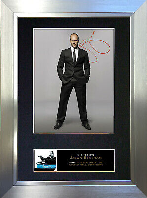 JASON STATHAM Signed Autograph Mounted Reproduction Photo A4 Print 182