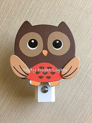 Nursery Night Lights - Night Light, Baby Shower Brown Owl Auto On/Off Sensor